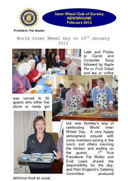 Inner Wheel Club of Dursley Newsround February 2012