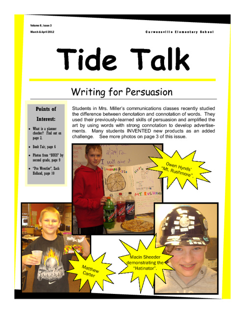March/April 2012 Tide Talk