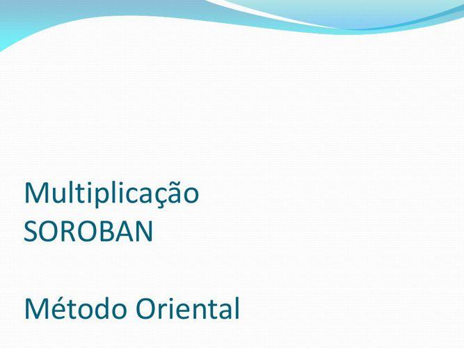 Multiplicação SOROBAN