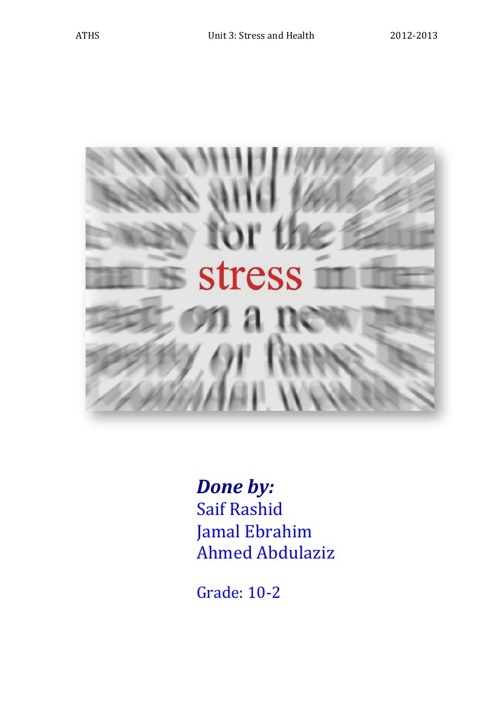 Stress Booklet