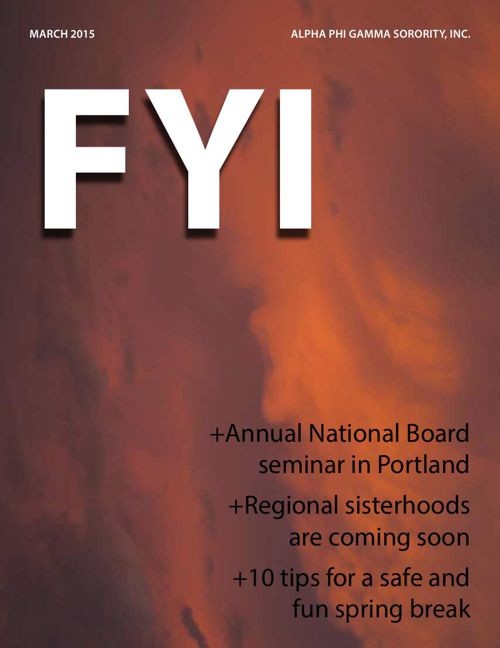 The F.Y.I. Newsletter - March 2015