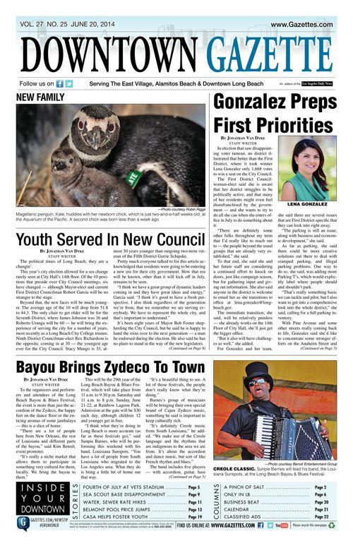 Downtown Gazette  |  June 20, 2014