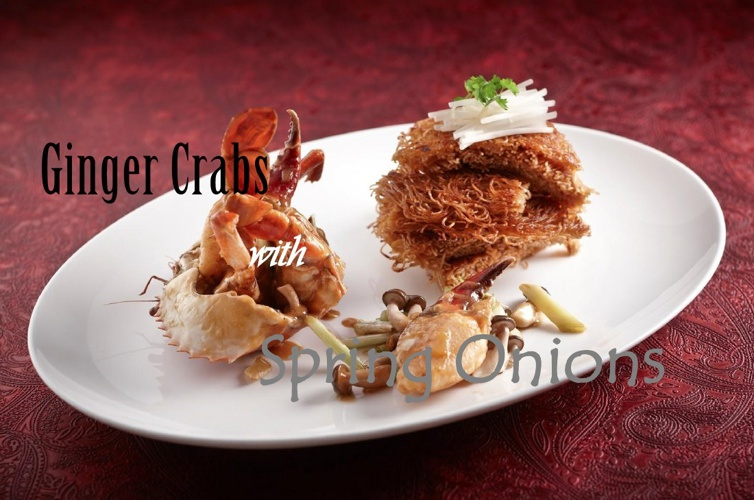 Ginger Crabs with Spring Onions