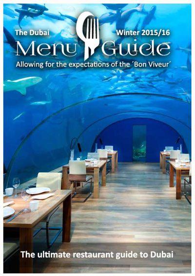 Dubai Menu Guide Winter 2015 / 16