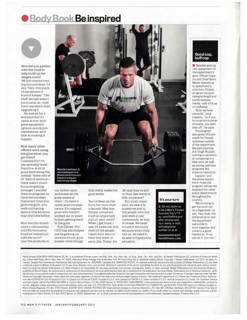 Men's Fitness features Cranberry Police Elite FIT program
