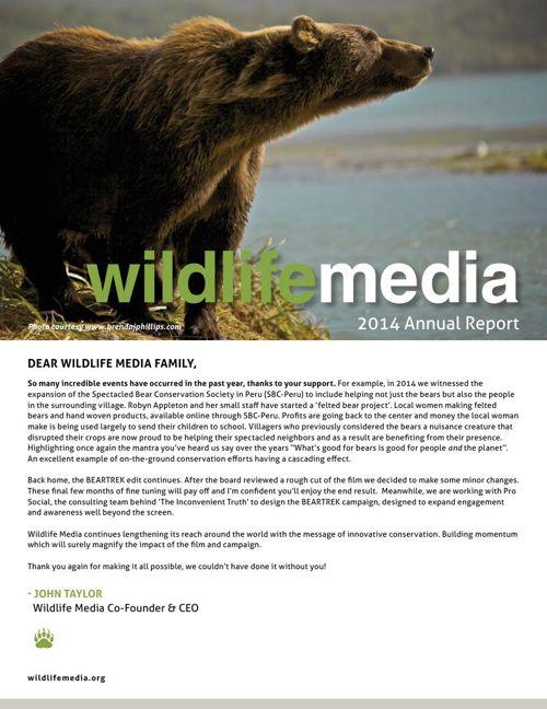 Wildlife Media Annual Report 2014 Web