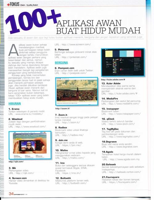 100 Aplikasi Awan