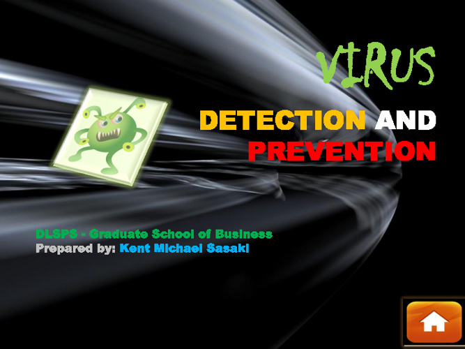 Virus Detection and Prevention (ITW-PPT) -Sasaki