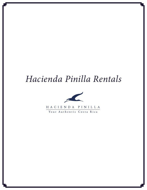 Hacienda Pinilla Rental Booklet