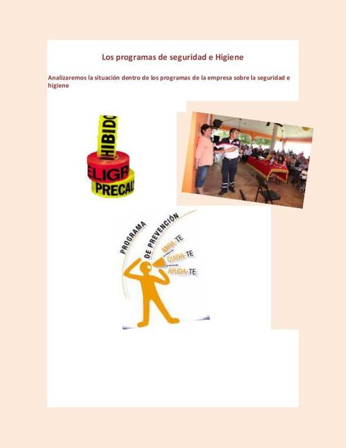 programas de seguridad e higiene