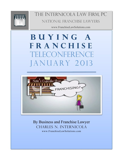 Buying a Franchise Teleconference January 2013