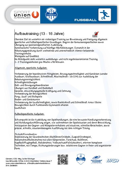 Konzept | 13 - 16 Jahre