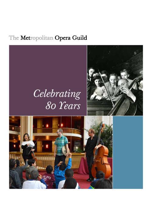 The Metropolitan Opera Guild | Annual Report on Education, 2014-