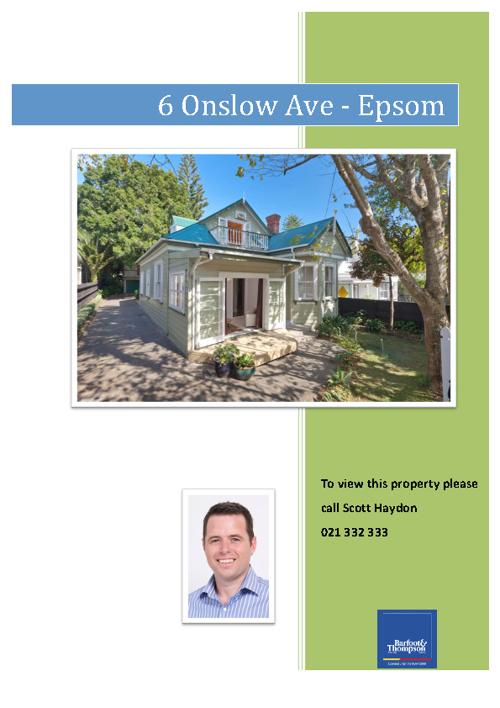 6 Onslow Avenue, Epsom