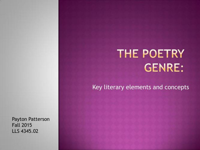 The Poetry Genre Flipbook Powerpoint