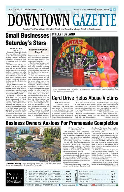 Downtown Gazette  |  November 23, 2012