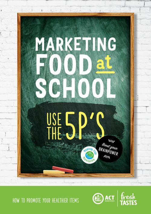 Marketing food at school ACT