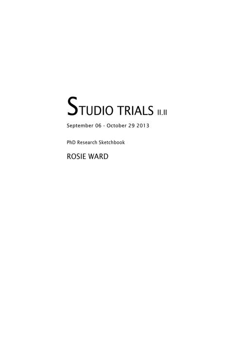 STUDIO TRIALS II.II (book 1 of 3)