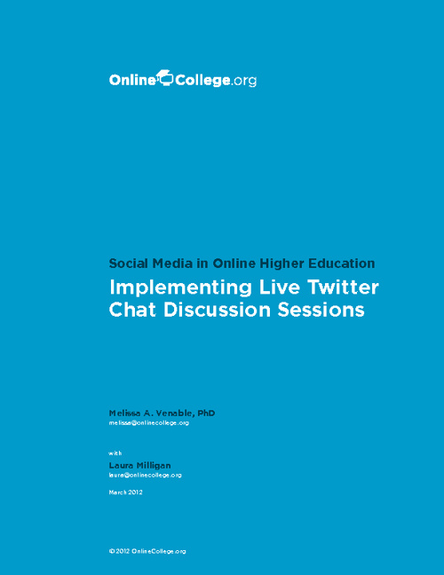 Twitter Chat (from OnlineCollege.org)