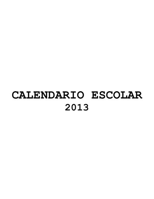New Flip Calendario Escolar 2013. Mined Nicaragua