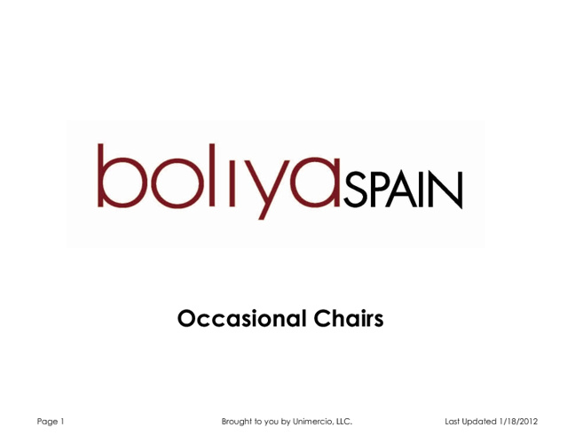 boliya Occasional Chairs