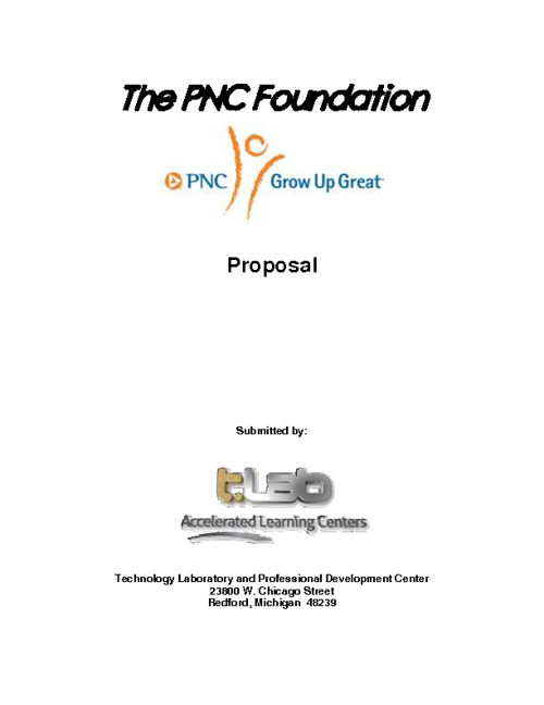 PNC Grant Proposal Application and Appendices