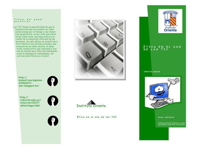 Publicación folleto TICS
