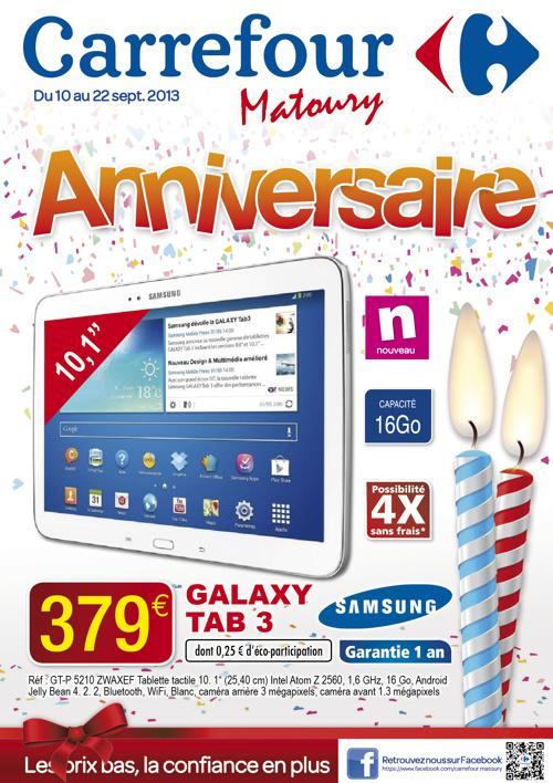 Catalogue anniversaire