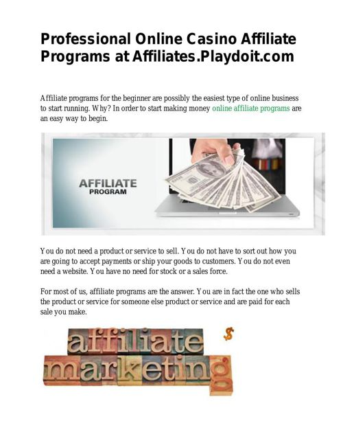 Professional Online Casino Affiliate Programs at Affiliates.Play
