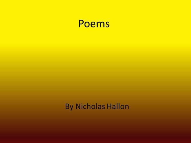 Nicholas's Poems