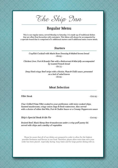 menu 1st page