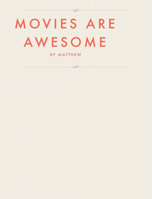 Movies Are Awesome
