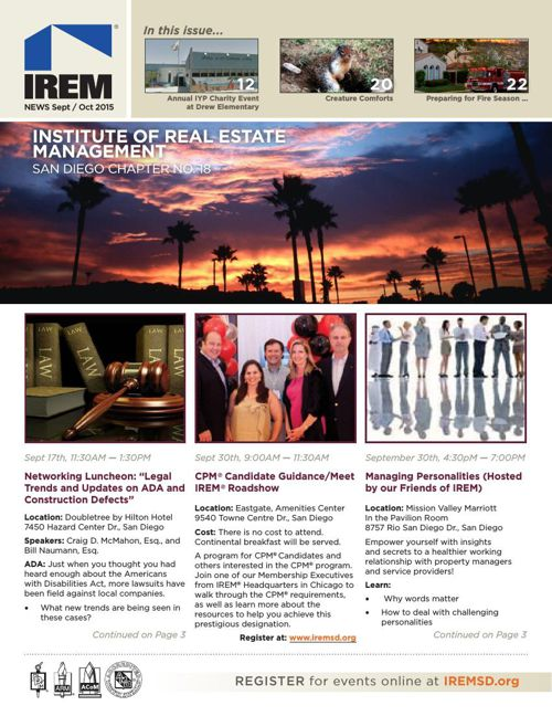 IREMSD Sept/Oct 2015 Newsletter
