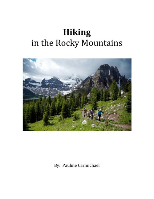 Hiking in the Rocky Mountainsnew