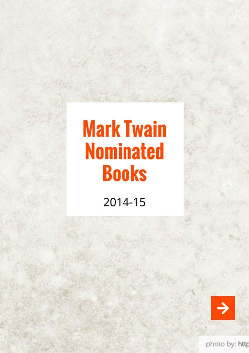 Mark Twain Nominated Books 2014-15