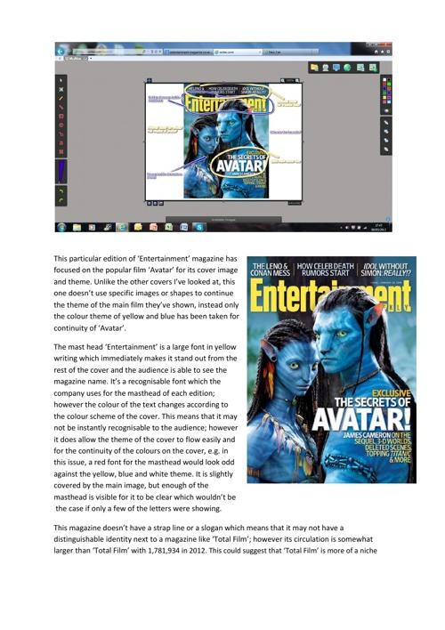 Magazine Cover Analysis 3