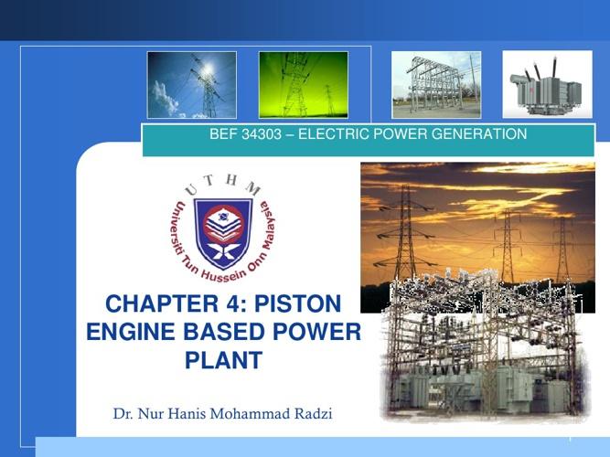 Piston Engine Based Power Plant