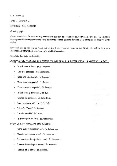 Copy of Copy of LIBROS RECOMENDADOS PARA ESTAS NAVIDADES EN 4 AÑ