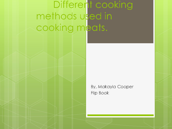 Meat Cooking Meathods