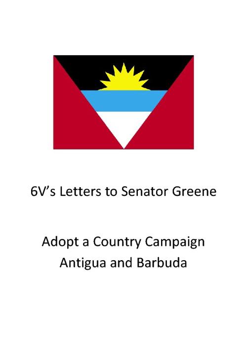6V's letters to Senator Greene