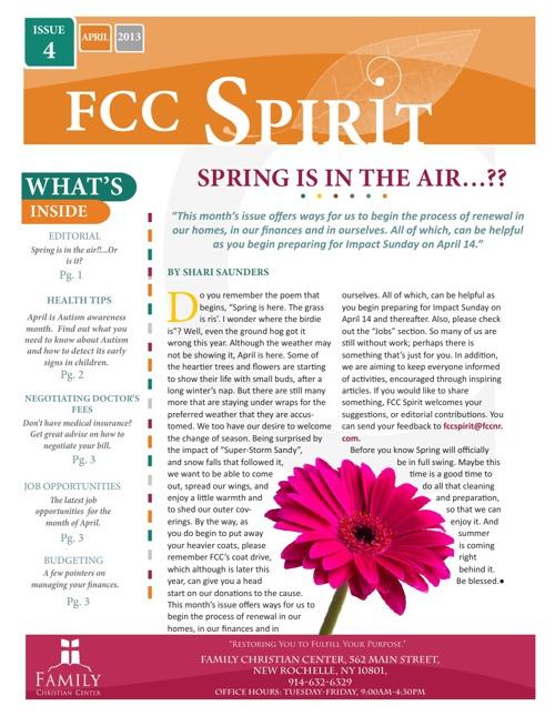 FCC Spirit-Issue 4, April 2013