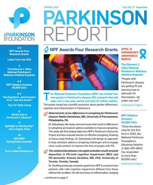Parkinson Report: Spring 2016