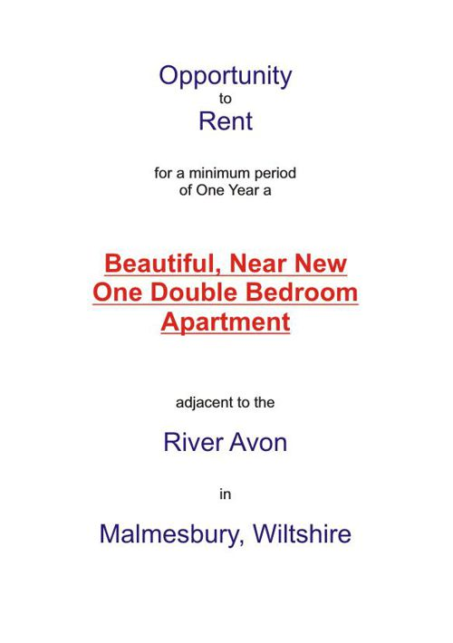 1 Bedroom Penthouse Apartment to Let in Malmesbury