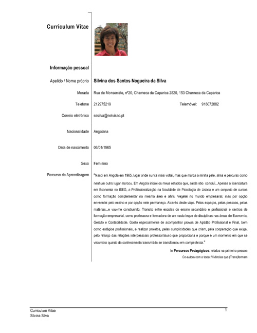 Silvina Silva CV