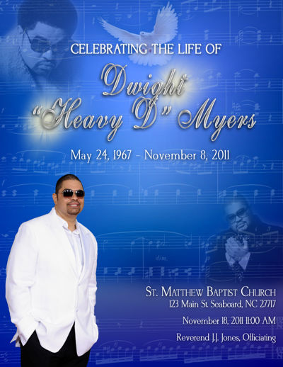 Heavy D Sample Memorial Program