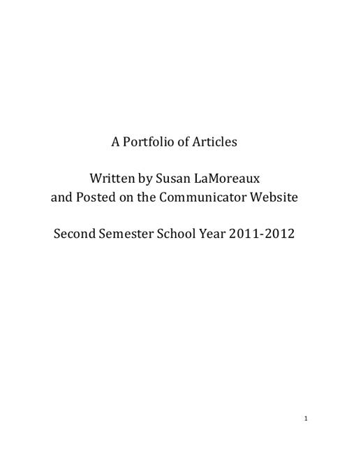 Communicator Portfolio_2012
