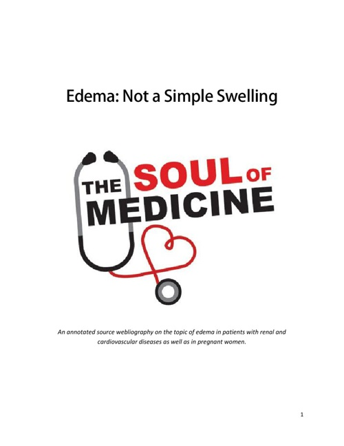 Edema: Not a Simple Swelling