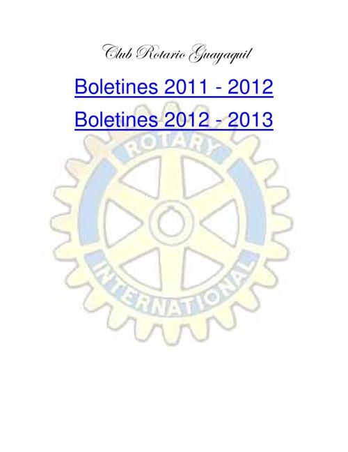 Boletines Club Rotario Guayaquil