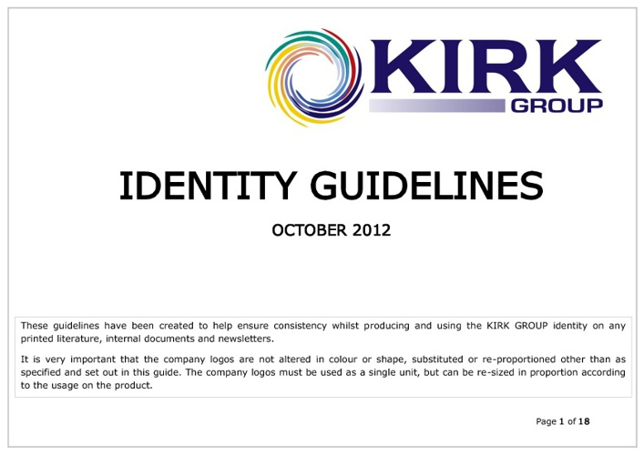 KIRK GROUP Identity Guidelines