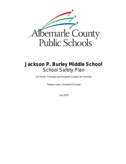 Burley Safety Plan 2015-16